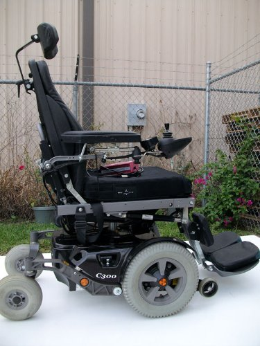 Permobil C-300 Power Chair Black - Used Electric Wheelchairs