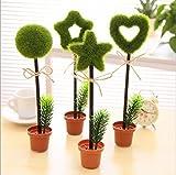 Frimateland 8個 極細 0.7mm 可愛 クール 鉢植え 花 植物 シェイプ プロモーション ボールペン オフィス スクール 用品 学生 子供 ギフト