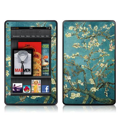 Amazon Kindle Fire Skin = ( Vinyl decal ) - Blossoming Almond Tree