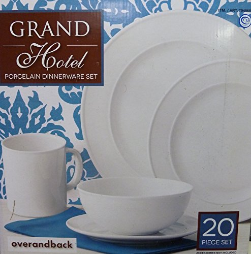 Over and Back Grand Hotel 20 Piece Dinnerware Set (Hotel Dinnerware compare prices)