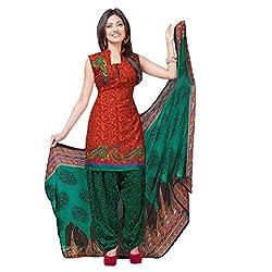 Triveni Women Polyester Salwar suit Dress Material (TSLCSK5018_Maroon)