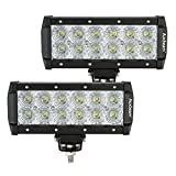 Auxbeam 2Pcs 7.5 36W Led Light Bar 3600lm DC 9-40V 12pcs 3w Cree chips flood beam 60 degree for Off-road vehicle car SUV truck Pickup offroad Ford F1