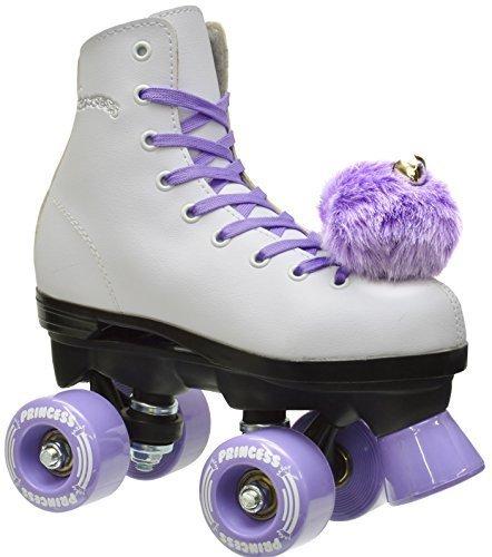 Girls Epic Purple Princess Indoor Outdoor Quad Roller Skates