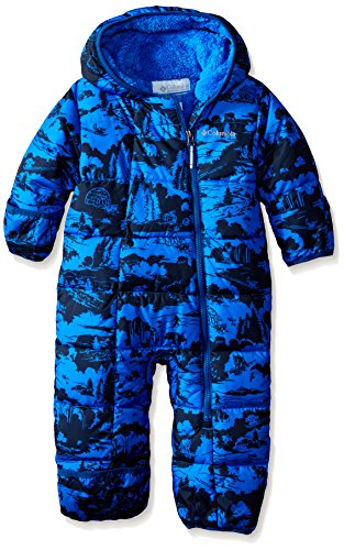 Columbia Baby-Boys Infant Frosty Freeze Bunting, Hyper Blue Print, 12-18 Months
