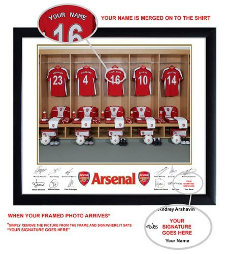 Arsenal FC Personalised Name On Shirt Photo