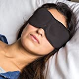 Luxury 3D Contour Super-Soft Sleep Mask - Eye Mask with FREE Ear Plugs and FREE Carry Pouch - Sleep Masks Perfect for Travel, Naps, a Good Night's Sleep & Meditation - 3D Padded Design Sleeping Mask with Comfort Foam Fit - Contoured Inner Pockets for No Pressure Against Your Eyes - 40winks 3D Sleep Masks with Adjustable Strap - A Sleep Mask Ideal For Men, Women & Children - YOUR SATISFACTION GUARANTEED ***100% money back within 60 days if you are not completely satisfied***