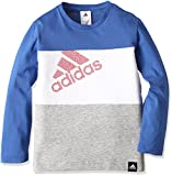 (アディダス)adidas トレーニングウェア カントリー カラーブロック 長袖Tシャツ BUE75 [ボーイズ] AZ6655 ブルー J140