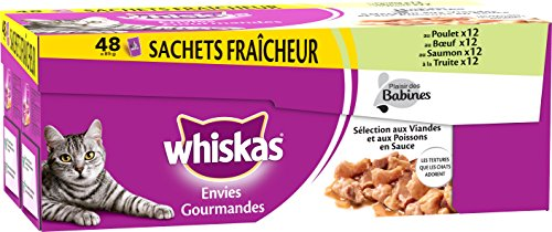 whiskas-set-de-48-sachets-fraicheur-envies-gourmandes-selection-aux-viandes-poissons-en-sauce-pour-c