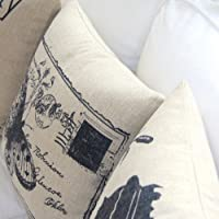 """Yamimi US classical style Linen Cloth Pillow Cover Cushion Case 18"""",Q266 by Yamimi"""