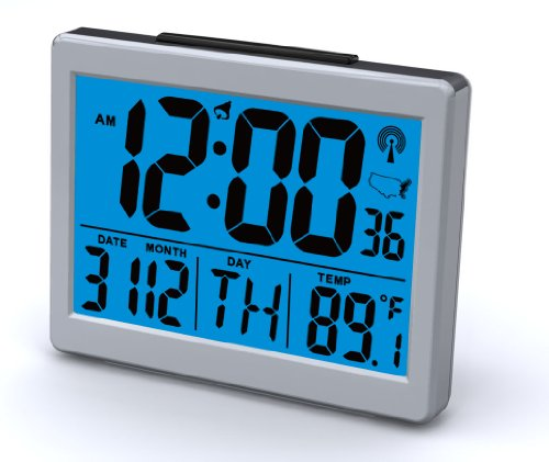 Atomic Desk/bedroom Alarm Clock-1.5 Time Number, Back Blue Light