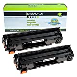 2 PK Greencycle 128 Toner Cartridge Compatible with Canon L100 D530 (Color: Black)