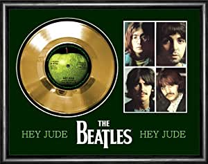 Amazon Com Beatles Hey Jude Gold Vinyl Record Framed