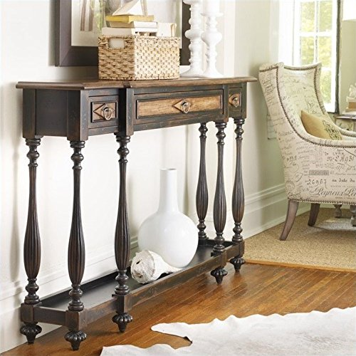 Hooker Furniture Sanctuary Three Drawer Thin Console in Ebony (Console In Furniture compare prices)