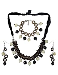 Seduction Of Rings- Fashion Necklace With Matching Earrings And Bracelet