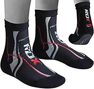 RDX Neoprene Ankle Brace Socks Achilles Tendon Pain Support Foot Guard MMA Pad