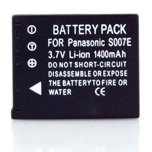 2 Battery Pack for Panasonic Lumix DMC-TZ5 CGA-S007 CGA-S007A
