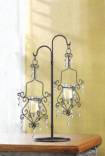 10 WEDDING HANGING MINI CHANDELIER CANDLE CENTERPIECES