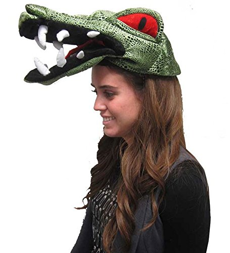 Gator Hat - Crocodile Scary Red Eyed Alligator Hat For Costume
