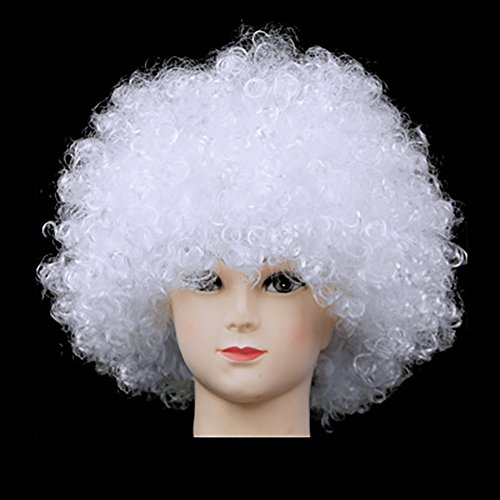 [Fund Economy Afro Wig for Party Halloween Show Club (White)] (Hollywood Celebrities Halloween Costumes)