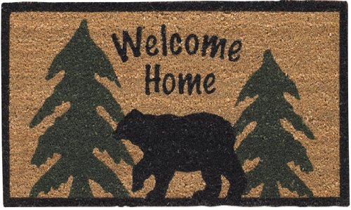 Park Designs Welcome Home Black Bear Doormat