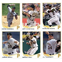 Buy 2013 Topps Mini Baseball Pittsburgh Pirates Complete Team Set (IN 4 POCKET DISPLAY ALBUM) ( 22... by Topps
