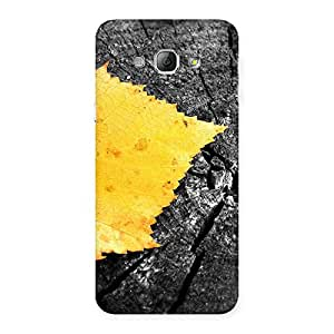 Stylish Lonely Leaf Multicolor Back Case Cover for Galaxy A8