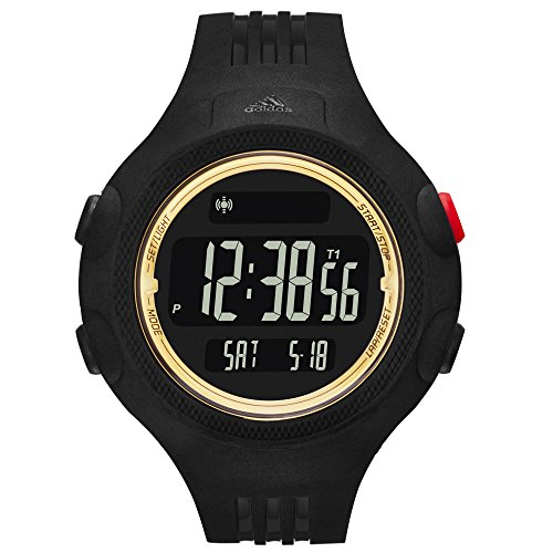 adidas Performance Questra Unisex Digital LCD Sports Watch Black/Gold