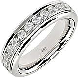 DIAMONIQUE Eternity-Drehring Memory Sterling-Silber 925 rhodiniert C059