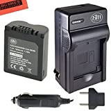 CGA-S006 Battery and Battery Charger for Panasonic Lumix DMC-FZ7 DMC-FZ8 DMC-FZ18 DMC-FZ28 DMC-FZ30 DMC-FZ35 DMC-FZ50...