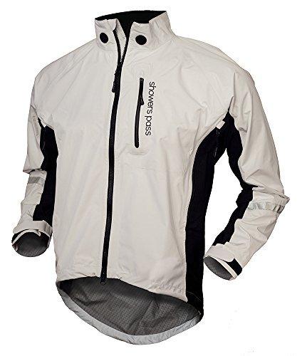 Showers Pass Men's Double Century RTX Jacket, White, Medium by Showers Pass (Showers Pass Double Century compare prices)