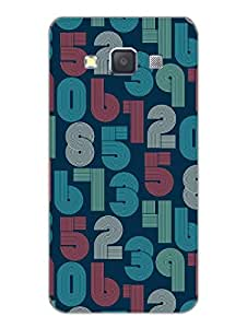 Samsung A3 Back Cover - Retro Numbers - Typography - Designer Printed Hard Shell Case