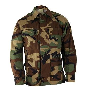 Propper Nylon / Cotton Ripstop BDU Coat Woodland Camo SS F545421320S1
