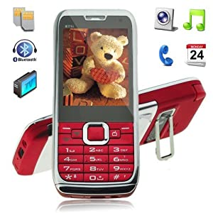2012 model E71 Mobile Phone Dual Sim TV Camera FM Cell Phone Unlocked