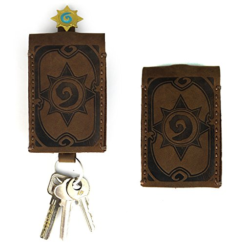 Hearthstone legend surrounding scratch car key cases cowhide leather buckle Hearthstone surrounding