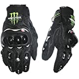 FULL Monster With Knuckle Motorcycle/Bike Riding Gloves(Black_Medium)