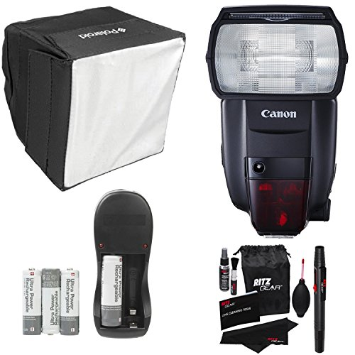 Canon-Speedlite-600EX-II-RT-Polaroid-Mini-Universal-Studio-Soft-Box-Flash-Diffuser-RitzGear-Cleaning-Kit-Compact-Battery-Charger-Accessory-Bundle