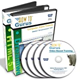 HTML 5 and Adobe Dreamweaver CS3 Tutorial Training on 4 DVDs, 24 Hours in 253 Video Lessons, Computer Software Video Tutorials