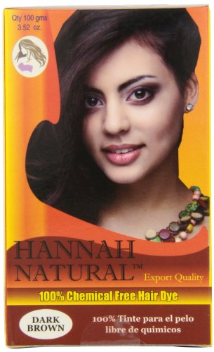 Hannah Natural 100% Chemical Free Hair Dye, Dark Brown, 100 Gram (Natural Hair Dye compare prices)