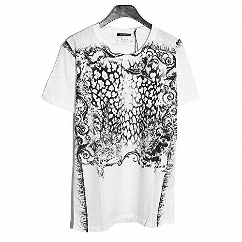 (バルマン) BALMAIN W4HJ601I315 100 半袖 クルーネック Tシャツ ホワイト (並行輸入品) RICHJUNE