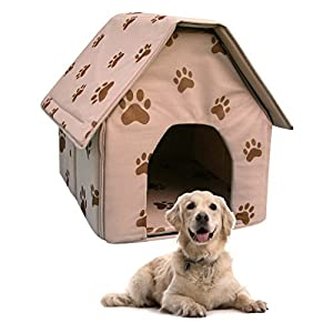 New portable travel dog house folding pet kennel soft cat for Soft indoor dog house large