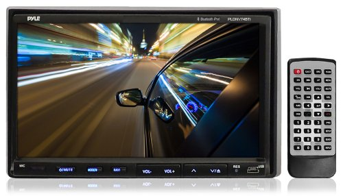 Pyle Pldn74Bti 7-Inch Double-Din Tft Touchscreen Dvd/Vcd/Cd/Mp3/Mp4/Cd-R/Usb/Sd-Mmc Card Slot/Am/Fm/Ipod Connector And Bluetooth