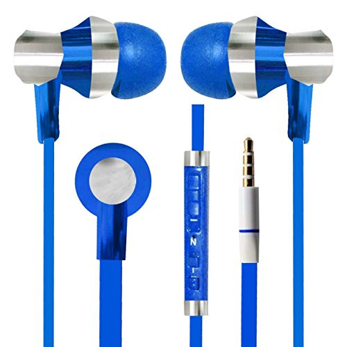 With Volume Control & MIC Function Designer Series & Comfort Fit Stereo Headset Handsfree Headphone Earphone 3.5 MM Jack for Apple iPhone 6 Plus -Blue  available at amazon for Rs.265