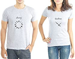 LaCrafters Couple Tshirt - Sharing Goodtimes Grey_X-Large
