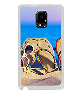 Beach Slippers 2D Hard Polycarbonate Designer Back Case Cover for Samsung Galaxy Note Edge :: Samsung Galaxy Note Edge N915FY N915A N915T N915K/N915L/N915S N915G N915D