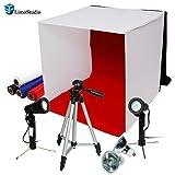 "LimoStudio Photography Photo Studio 16"" Table Top Photo Tent 600Lumes LED Lighting Kit with 41"" Camera Tripod, AGG778"
