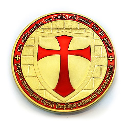 Commemorative Knights Templar Cross Masonic Mason Gold Coin - The Masonic Exchange