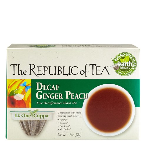 The Republic Of Tea Decaf Ginger Peach Black