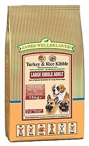 James Wellbeloved Complete Dry Dog Food Adult Large Breed Turkey 15 Kg
