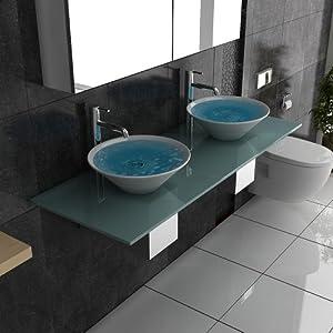 milchglas waschtisch designer waschtisch m bel aus glas alpenberger serie 200 keramik. Black Bedroom Furniture Sets. Home Design Ideas