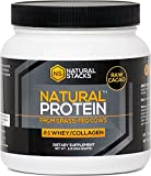 Grass Fed Whey Protein Concentrate with Collagen Powder - Fortified with Bovine Colostrum and Contains Full Spectrum of Amino Acids. From 100% Grass-Fed Cows. (Cacao)